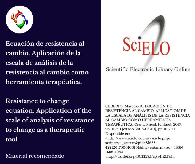 escala de análisis de la resistencia al cambio como herramienta terapéutica.